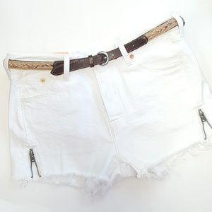 28 Levis 501 Factory Altered White Cut Off Shorts